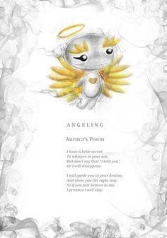 Aurora Angeling's poem. Every Frightlings character comes with it's own spooky poem.