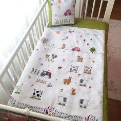 Cross stitch baby blanket kanaviçe bebek battaniyesi