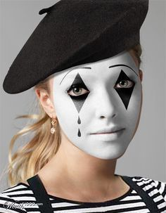 Halloween - Make-up Makeup and Co.- Halloween – Make-up Makeup and Co. Mime Halloween Costume, Celebrity Halloween Costumes, Halloween Makeup Looks, Halloween Make Up, Mime Artist Halloween, Farmer Halloween, Halloween Ideas, Mime Makeup, Costume Makeup