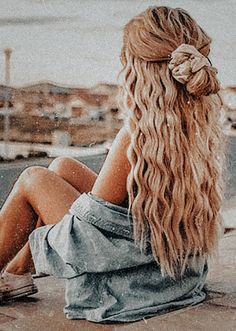Cute Hairstyles For Teens, Summer Hairstyles, Messy Hairstyles, Pretty Hairstyles, Hair Day, New Hair, Scrunchies, Aesthetic Hair, Hair Color For Women