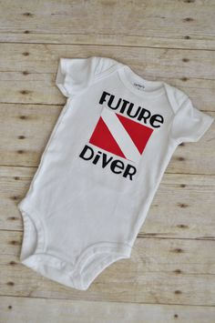 Future Diver Onesie by LinzyDawnDesigns on Etsy, $12.00