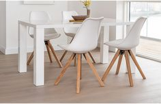 Our compact dining offer just got a whole lot better with the Alexandra compact white dining set