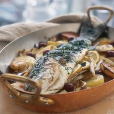 Roasted Branzino with Fennel  #Fish