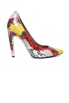 Proenza multi-colored lizard pumps with that gently curved heel...genius!