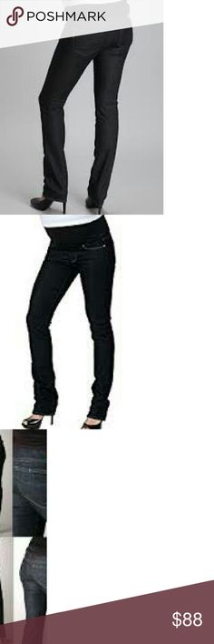 Paige Maternity NEW Skinny Straight Jeans 27 NWT In a gorgeous dark Blue Heights rinse for that long, lean look, these demi-panel slim straight Paige Premium Denim jeans are not quite a skinny, but close. They're easy to dress up, and super cute and comfy even after you give birth.  Wear the panel up and over or folded under, whichever you like.  We recommend you select one size up from your pre-pregnancy size. I have other sizes! Check out all my maternity listings and enjoy your pregnancy…