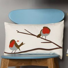 robin cushion by lorna syson | notonthehighstreet.com