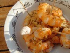 Gambas à la plancha, Recette Ptitchef Shrimp, Bbq, Food, Barbecues, Photos, Flat Top Grill, Favorite Recipes, Cooking Recipes, Barbecue