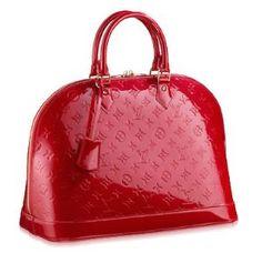 lv louis vuitton Vernis alma red women handbag purse  Oh, I do love a red handbag! :)