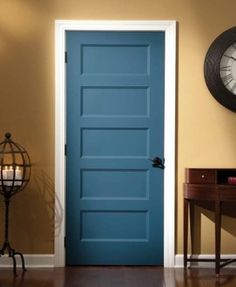 Craftsman look for interior doors traditional interior doors with rich blue color