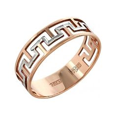 Кольцо с алмазной огранкой из красного золота 97170