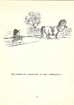 1962 Thelwell Cartoon Print