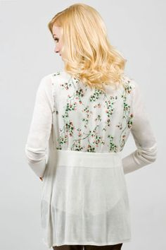 blossom back long sleeve topper