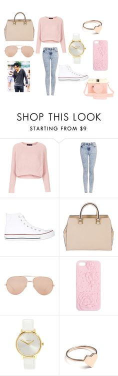 """Без названия #1"" by strelenko ❤ liked on Polyvore featuring Topshop, Converse, Victoria Beckham, Linda Farrow, Wet Seal, Nixon and Urban Outfitters"