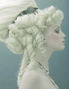 white hair / beauty