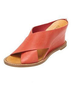 Look at this Red Habitual Leather Wedge on #zulily today!
