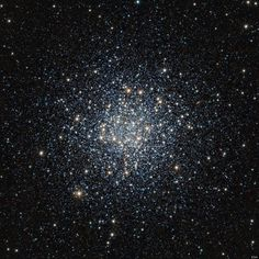100,000 stars crowded together in Messier 55, a globular star cluster located roughly 17,000 light-years from Earth