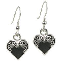 Heartfelt Hematite Silver Tone Drop Pierced Earrings (£18) ❤ liked on Polyvore featuring jewelry, earrings, earring jewelry, silvertone jewelry, silver tone earrings, silver tone jewelry and hematite jewelry