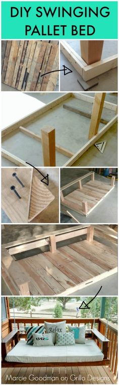 DIY PALLET SWINGING BED