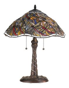 Spiral Dragonfly Table Lamp