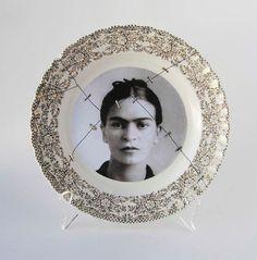 Frida Kahlo plate via Etsy