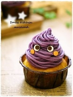 Sweet potato Mont Blanc cupcake