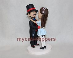 Cake Topper custom wedding cake topper personalized cake topper for wedding tophat cake topper custom figuirnes bride and groom lifelike by dealeasynet. Explore more products on http://dealeasynet.etsy.com