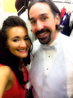 Heather and Drew ... backstage ... Dirty Rotten Scoundrels, 2015