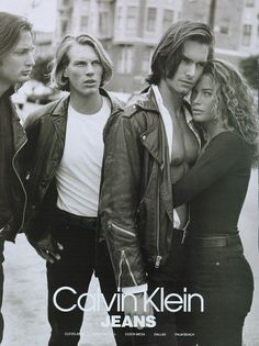 Carré Otis and Marcus Schenkenberg by Bruce Weber for Calvin Klein 1991