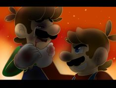 here is luigi scared to get up tomorrow :C poor baby DX there school doesnt beat up mario but only luigi :C hope ya like it Luigi scared Super Mario And Luigi, Super Mario Games, Super Mario Art, Mario Fan Art, King Boo, Tears In Eyes, Tomorrow Is Another Day, Cute Anime Wallpaper, Bowser