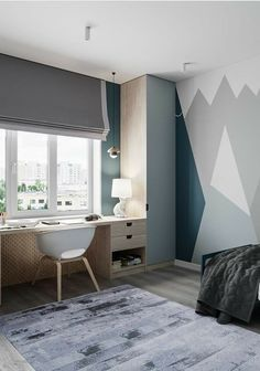 newest paint home decor ideas that trending now 26 ~ mantulgan.me : newest paint home decor ideas that trending now 26 ~ mantulgan. Kids Room Design, Home Office Design, Interior Design Living Room, Design Studio, House Design, Kids Bedroom, Bedroom Decor, Boys Bedroom Furniture, Awesome Bedrooms