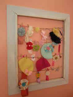 love this to keep all her headbands and hair accessories together!!!