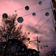 grafika sky, pink, and light