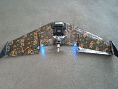 FPV Blunt Nose Versa Wing, scratch built by S. Forcella, designed by Josh Bixler from FlightTest