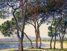 Trees by the Seashore at Antibes, 1888 Claude Monet