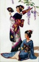 Renoir Paintings, Counted Cross Stitch Patterns, Geisha, Embroidery, Gallery, Alphabet, Oriental, Crosses, Needlepoint