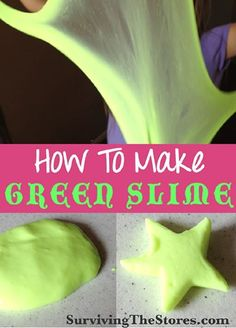 Important for all parents to know ... How to make GREEN SLIME with ingredients you likely already have