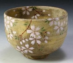 Dancing Cherry Tree Matcha Bowl #ceramics #pottery