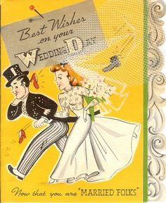 Vintage Wedding greeting card