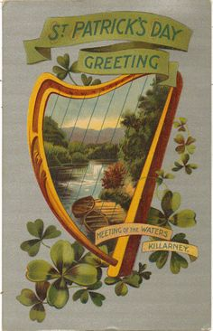 Vintage St Patricks Day Postcard Meeting of the by lotsofpostcards