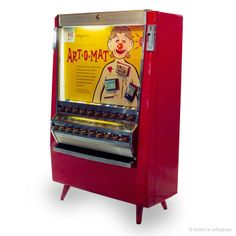 Re-purposed Vintage Cigarette machines that now dispense ART!