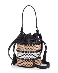 Loeffler Randall Perforated Mini Industry Bucket Bag