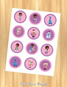 INSTANT DOWNLOAD Doc McStuffins Cupcake Toppers por TheRawPaper