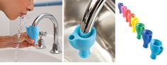 Turns your faucet into fountain... the kid's would have so much fun brushing their teeth!