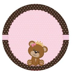 Tag ou topper Dibujos Baby Shower, Baby Shower Oso, Imprimibles Baby Shower, Baby Shower Invitaciones, Baby Boy Shower, Baby Decor, Baby Shower Decorations, Teddy Bear Party, Baby Shawer