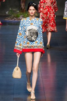 Dolce and Gabbana SS14 #MFW