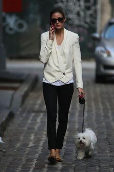 Love the white blazer.