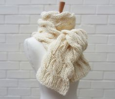 Image result for cream knitted scarf
