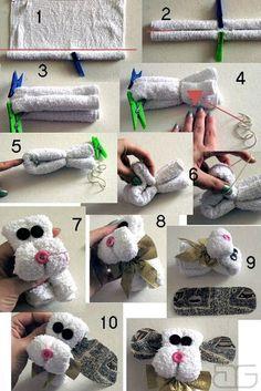 más y más manualidades: 8 Tutoriales para hacer obsequios con toallas