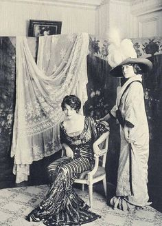 Fashion in Paris, France. 1910
