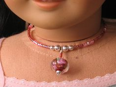 making jewelry for dolls
